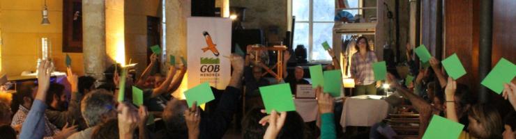 Un moment del congrés del GOB Menorca de dissabte passat
