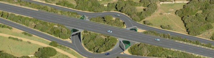 Dibuix de la rotonda prevista a Biniai, on no hi ha cap creuer de camins.