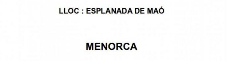 Cartell de la concentració a Menorca