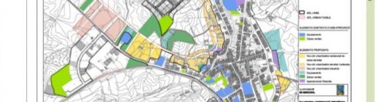 En groc, els nous creixements residencials. En rosa, els nous industrials.