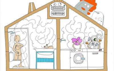 La calor del sol permet estalviar energia en l'escalfament d'aigua domèstica