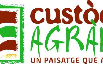 """Logo amb l'eslògan """"Un paisatge que alimenta"""""""