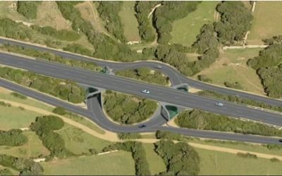 Rotonda soterrada prevista a Biniai, on no hi ha cap creuer de camins.