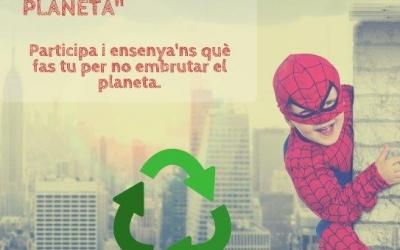 Cartell del concurs. Busquem superherois del planeta!