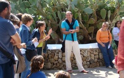 En Marc Moll en un taller al Parc Rubió i Tudurí