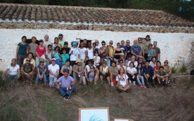 Grup de voluntaris que va realitzar la sembrada