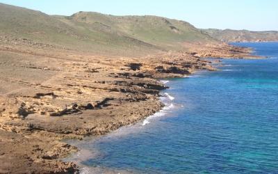 Vista del litoral verge a ponent de Fornells.