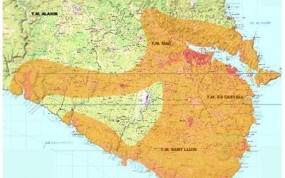 Àrea de distribució a la zona de Maó
