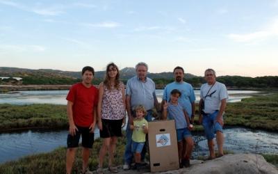 La família Quetglas amb voluntaris del Centre de Recuperació a La Concepció