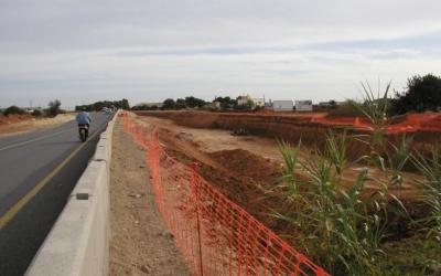 Obres d'ampliació de carretera a Eivissa