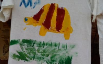 Podràs pintar una samarreta amb una tortuga