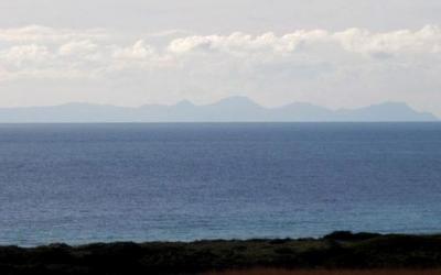 Mallorca vista des de Menorca