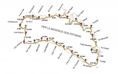 Mapa amb els diferents trams.