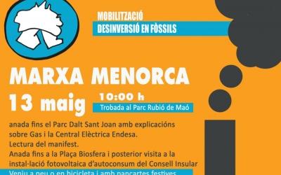 Marxa festiva, a peu o en bicicleta, per demanar energies netes per Menorca
