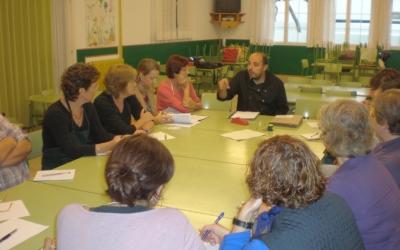 Joan M.Ribas d'Ecomenja i l'equip de cuineres
