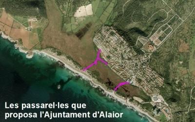 Passarel·les proposades per l'Ajuntament d'Alaior