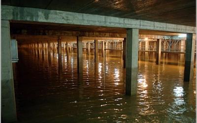 Dipòsit soterrat per a pluvials a Madrid