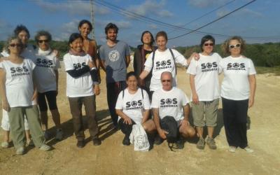 Grup que fa Tchi_kun cada diumenge sobre la ferida de les obres
