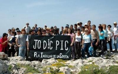 Acte reivindicatiu dins la campanya Jo dic PIC