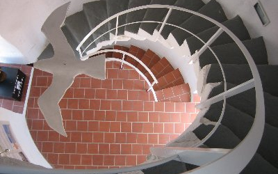 Vista interior de la torre del Molí del Rei